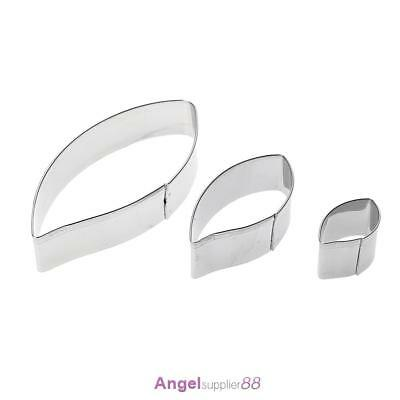 3pcs/set Metal Cookie Cutters Biscuit Mold Leaves Fondant Cake Mould