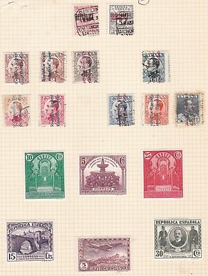 Spain  1930 - 31       2 Pages  Various Values  & Part Sets  Mh & Used