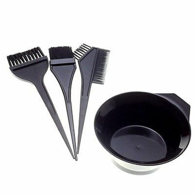 4Pcs Hair Colouring Brush And Bowl Set Bleaching Dye Kit Salon Beauty Comb Tint,