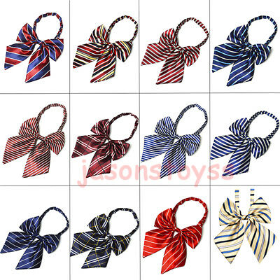 Womens Girls Fashion Adjustable Bow Tie Satin Necktie Neckwear Party Banquet New