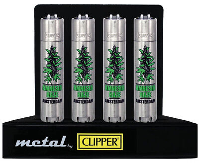 "Genuine Limited Edition ""amnesia Haze"" Clipper Lighter - Metal Gift Case - Rare"