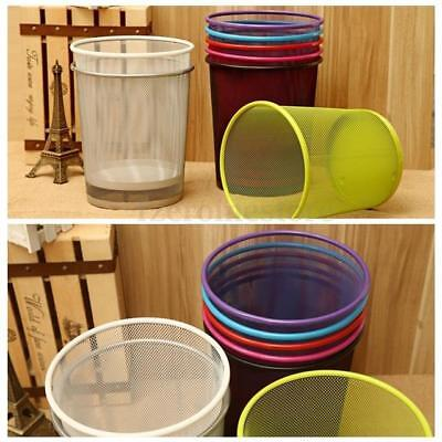 Brand New Round Mesh Wire Metal Paper Waste Basket Bin Office Home In 12 Colours