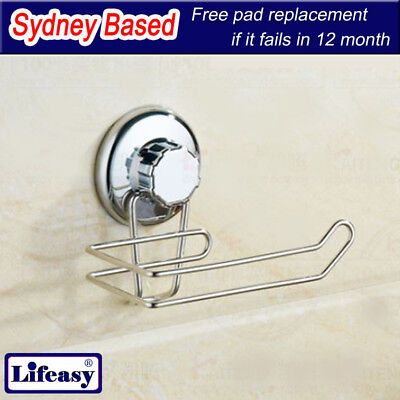 Super Strong Suction Cup Toilet Paper Holder Towel Holder Stainless Basket Caddy