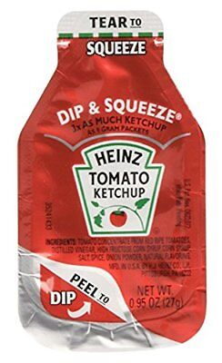 Heinz Tomato Ketchup 0.95-Ounce Single Serve Packages Pack of 50 --- 3x More ...