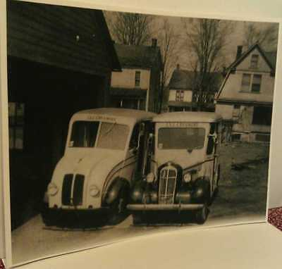 Old Friedens Pa. I.X.L. Creamery Dairy Milk Delivery Trucks  Print
