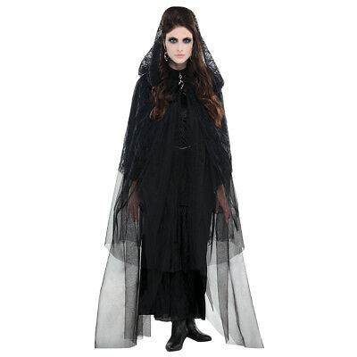 FANCY DRESS Adult - Gothic Lace Hooded Cape