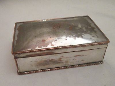 A Good 19th Century Silver Plated Box / Cigar Box / Trinket Box