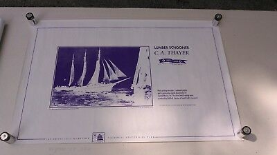 """Nautical Blueprints """"C.A. Thayer"""" Three-Masted Schooner + one (5 pieces total)"""
