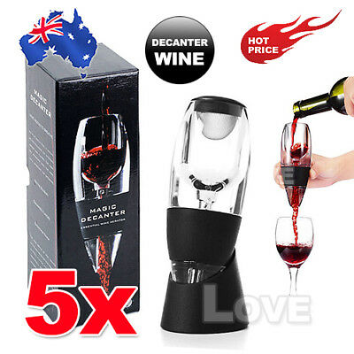 5X New Magic Decanter Essential Red Wine Aerator Sediment Filter Pouch with Box