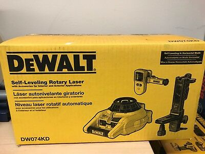 DEWALT DW074KD 600-ft Self-Leveling Interior/Exterior Rotary Laser Kit