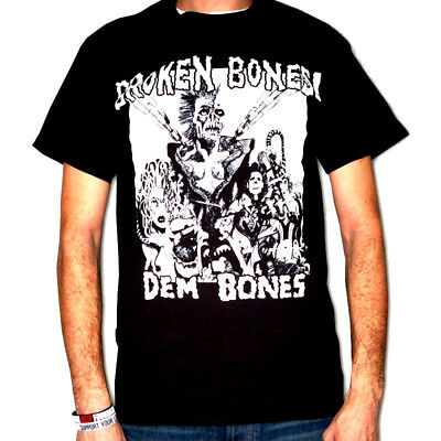 BROKEN BONES Shirt S,M,L,XL Conflict/Varukers/Chaos UK/Subhumans/GBH/Discharge