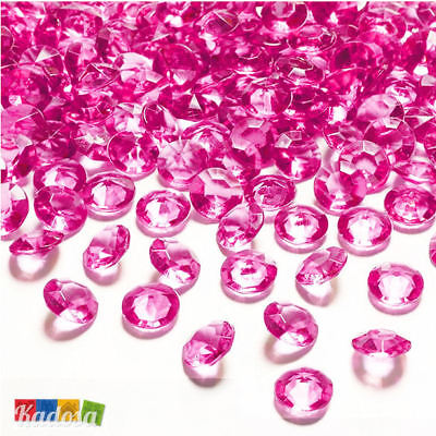 100pz Diamanti Decorativi 12mm FUCSIA - Diamantini Centrotavola Party Fuxia Pink