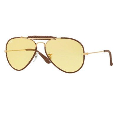 Ray Ban Rb 3422A 90424A Aviator Craft Ambermatic Occhiali Da Sole Sunglasses
