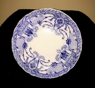 Beautiful, Rare, Antique Burgess & Leigh, Blue Flow Small Plate