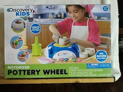 DISCOVERY KIDS Motorized Pottery Wheel and Accessories NEW, Ages 8+