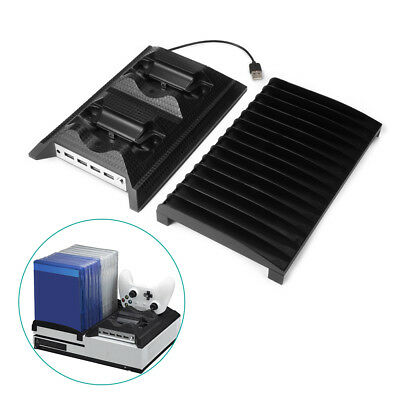 5 in 1 Dual Controllers Charging Station + Discs Storage for Xbox One Slim AC812