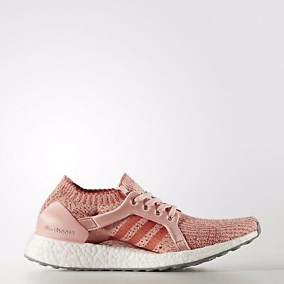 Adidas Originals Women's Ultra Boost X in Pink/Tactile Red BB3436 Free Ship