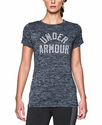 NWT Under Armour Women's UA Tech Graphic Tee Nay/Gray Loose Fit T-Shirt Size M