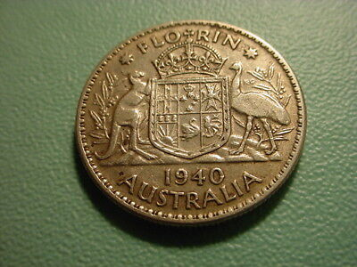 Australia - Silver - 1940 Florin In Very Nice Condition