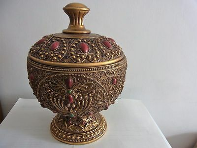Bejwelled Urn 10x8 Inches -New Condition