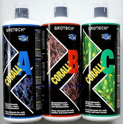 GROTECH CORAIL A B C Set 3x1000ml Gro TECH éléments traces 23,97€/ L