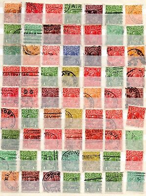 Australia collection of 100+ KGV Roos and Heads unchecked  Used