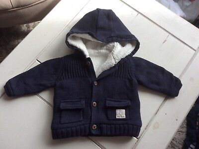 M & S Baby Boy Knitted Jacket/coat/cardigan 3 - 6 Mths