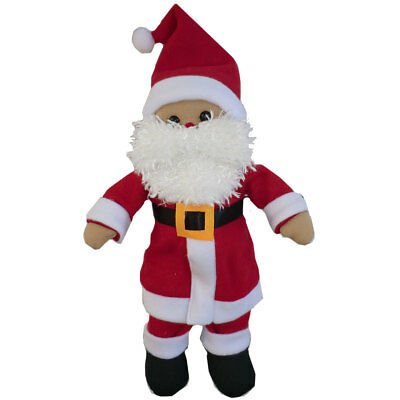 Large Personalised First Christmas Santa Rag Doll, Gift, Baby Gift, teddy doll