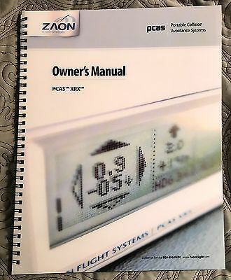 Zaon PCAS XRX owner's manual handbook well illustrated
