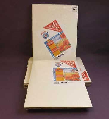 Job Lot 14 Packs of 4 Anita's Watercolour Painting Boards 56 Boards Total 18x14