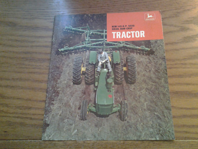 1969 John Deere New 140hp 5020 Diesel Row Crop Tractor Brochure
