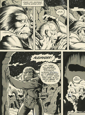 Original Comic Art Page Planet of The Apes Issue 6 Page 24