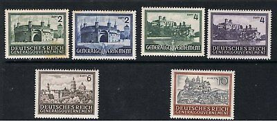 Poland 1941 - 44 Occupation Stamps - Monasteries