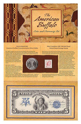 2001 American Buffalo Coin And Currency Set OGP W/COA Opened