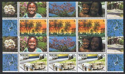 Nauru 1984 Scenes - Blocks Of 3 & 4