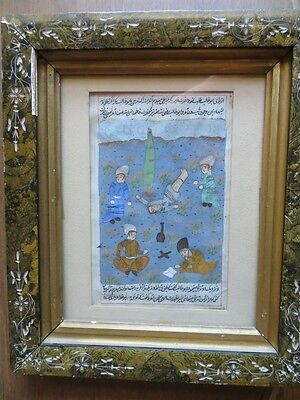 Excellent Mughal Illustrated Manuscript Asian Subcontinent