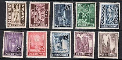 AUSTRIA 1946 SURTAX FOR RECONSTRUCTION OF St PETERS