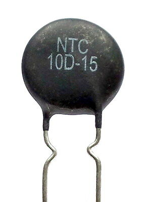 2x NTC 10D-15 Inrush Current Limiter, Power Thermistor 10 ohm 5Amp -ref:341
