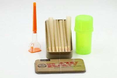 Cone Artist With 15 Raw King Size Cones Plus Raw Carry Tin   + Gift