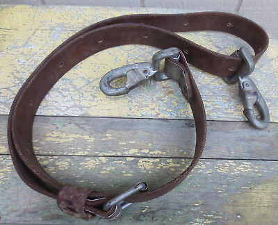 Vintage BUCKINGHAM UTILITY POLE LINEMAN TREE CLIMBING SAFETY LANYARD STRAP 5' 6""