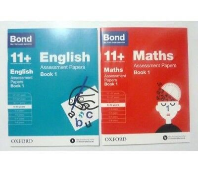 Bond 11+ English & Maths Assessment Papers Set of 2 Books  Age 9-10