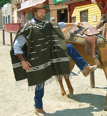 Clint Eastwood Green Poncho - Cowboy Replica Movie Prop - Great for Halloween