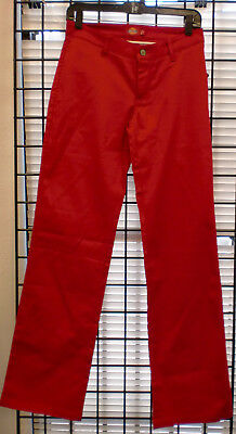 Dickies Girl Stretch Pants  4 Pockets Uhh874  Color :Red  Sizes 1 & 3 Only