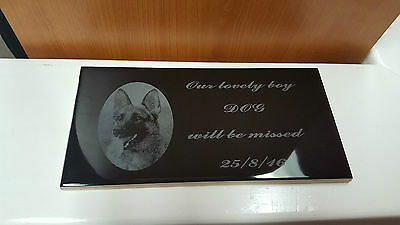 Pet Memorial plaque - personalised engraved with your pet photo and words