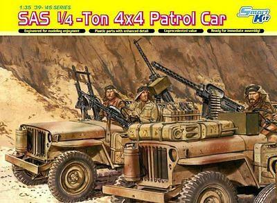 Dragon Models 6745 1/35 SAS 1/4-ton 4x4 Patrol Car W/crew