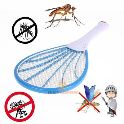 Electric Insect Bug Pest Fly Mosquito Racket Swatter Killer Zapper Rechargeable