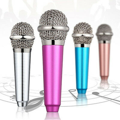 Portable 3.5mm Wired Clip On Mini Lapel Headset Microphone For Phone Karaoke