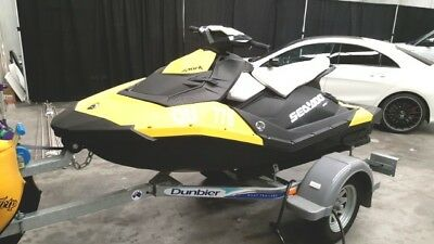 Seadoo Spark 3Up 90Hp HO Jetski 2014 15hrs run in as new as new Dunbier trailer