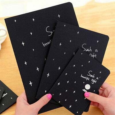 Black hot Paper Notebook  Sketch Graffiti Drawing Painting Stationery 2 Sizes