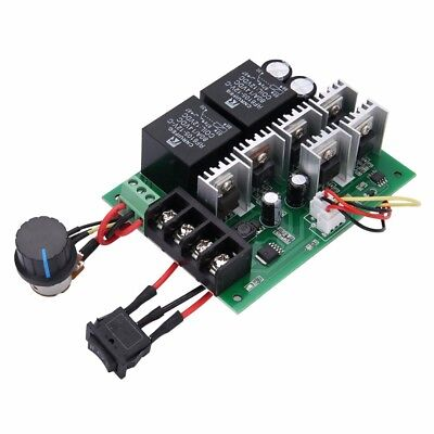 DC 10V-50V 40A PWM Brush Motor Speed Control Controller Reversible Switch Max 60